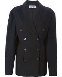 Женский черный двубортный пиджак от Jean Paul Gaultier
