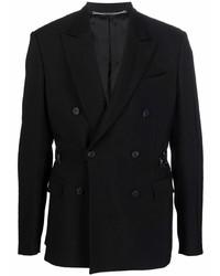 Мужской черный двубортный пиджак от John Richmond