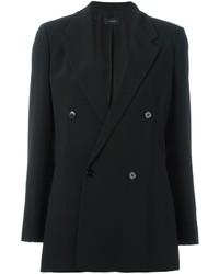 Женский черный двубортный пиджак от Joseph