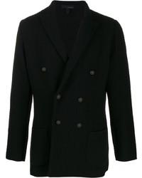 Мужской черный двубортный пиджак от Lardini