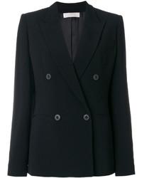 Женский черный двубортный пиджак от Mantu