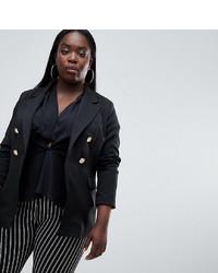 Женский черный двубортный пиджак от Missguided Plus