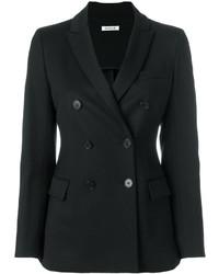 Женский черный двубортный пиджак от P.A.R.O.S.H.