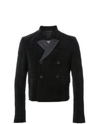 Мужской черный двубортный пиджак от Rick Owens