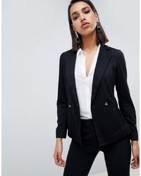 Женский черный двубортный пиджак от Sisley