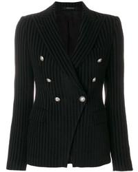 Женский черный двубортный пиджак от Tagliatore