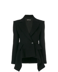 Женский черный двубортный пиджак от Tom Ford