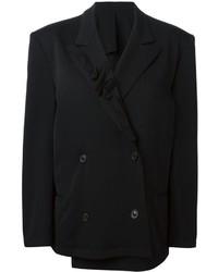 Женский черный двубортный пиджак от Yohji Yamamoto