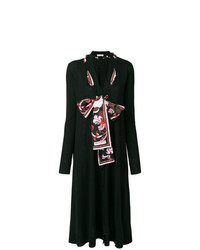 Черный длинный кардиган от Emilio Pucci