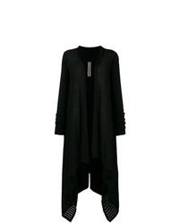 Черный длинный кардиган от Rick Owens