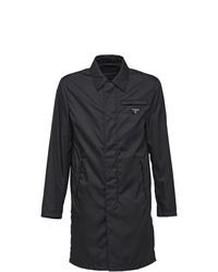 Мужской черный дождевик от Prada