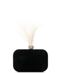 Черный замшевый клатч с украшением от Jimmy Choo