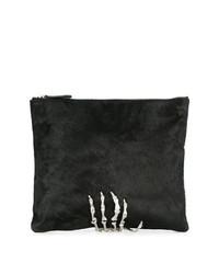 Черный замшевый клатч с украшением от Mara & Mine