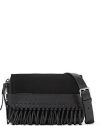 Черный замшевый клатч c бахромой от 3.1 Phillip Lim