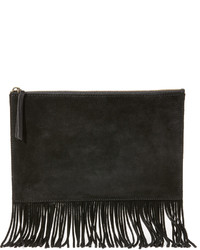 Черный замшевый клатч c бахромой от Madewell