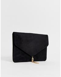 Черный замшевый клатч от ASOS DESIGN