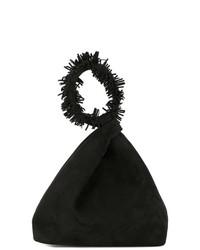 Черный замшевый клатч от Elena Ghisellini