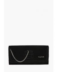 Черный замшевый клатч от Sergio Belotti