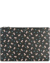 Женский черный клатч с принтом от Givenchy