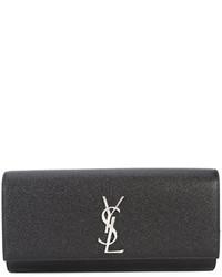 Черный клатч от Saint Laurent