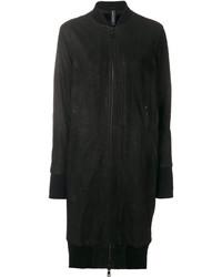 Женский черный кожаный бомбер от Giorgio Brato