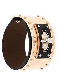 Черный кожаный браслет с шипами от Givenchy