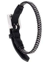 Черный кожаный браслет от Diesel