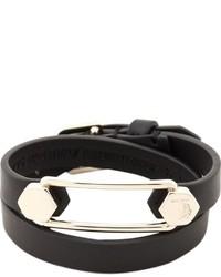 Черный кожаный браслет от Tod's