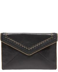 5fa6d92f45d3 Купить черный кожаный клатч с вышивкой - модные модели клатчей (62 ...