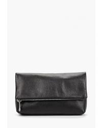 Черный кожаный клатч от Asya Malbershtein