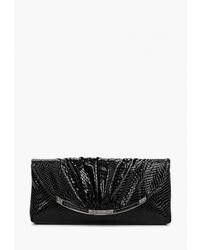 Черный кожаный клатч от Bacio Bella