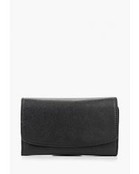 Черный кожаный клатч от Banana Republic