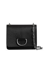 Черный кожаный клатч от Burberry