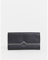 Черный кожаный клатч от Fiorelli