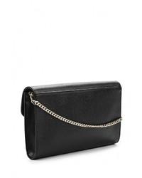 Черный кожаный клатч от Furla