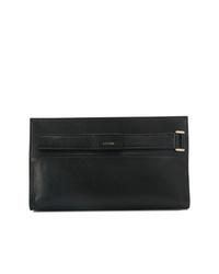 Черный кожаный клатч от Lanvin