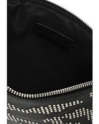 Черный кожаный клатч от Mango