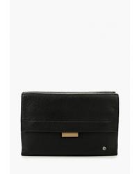 Черный кожаный клатч от Pimobetti