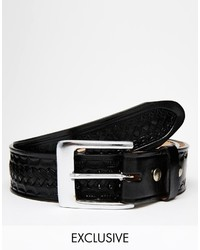 Мужской черный кожаный плетеный ремень от Reclaimed Vintage
