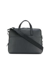 Черный кожаный портфель от BOSS HUGO BOSS