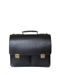 Черный кожаный портфель от Carlo Gattini