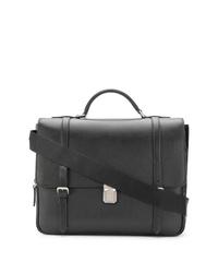 Черный кожаный портфель от Church's