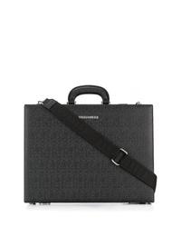 Черный кожаный портфель от DSQUARED2