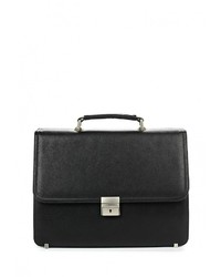 Черный кожаный портфель от Fabretti