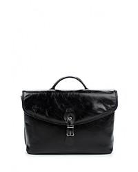 Черный кожаный портфель от Flioraj
