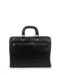 Черный кожаный портфель от Leo Ventoni