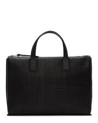 Черный кожаный портфель от Loewe