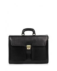 Черный кожаный портфель от Roberta Rossi