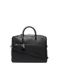 Черный кожаный портфель от Saint Laurent