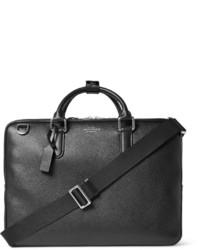 Черный кожаный портфель от Smythson